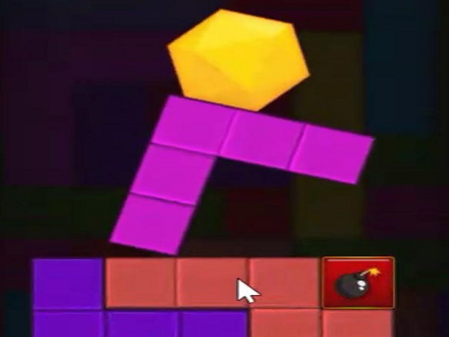 Remove groups of identically colored blocks as you try to keep the hexagon on the screen Starred blocks are worth extra points